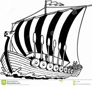 Viking Ship clipart black and white - Pencil and in color ...