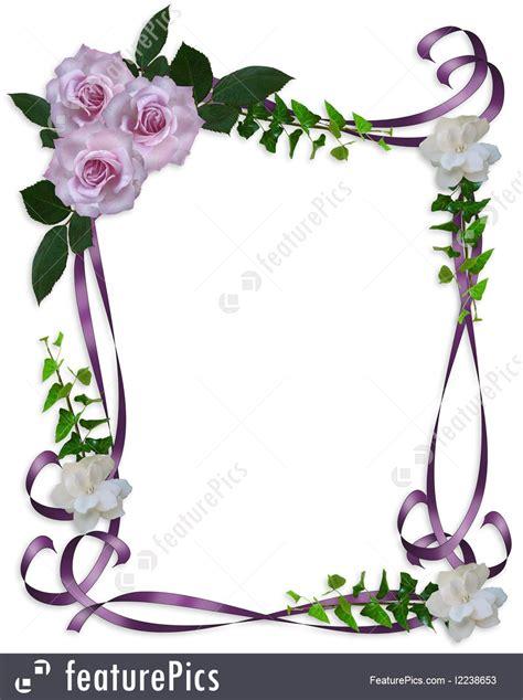 birthday invitation illustration of roses wedding invitation border