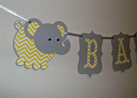 chevron banner events baby shower