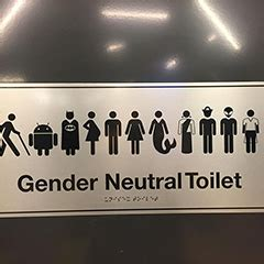 Gender Neutral Bathroom Signs by S Gender Neutral Bathroom Sign Has Batman Jedi