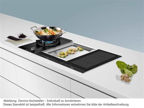 Kochfeld Gas Und Induktion by Siemens Ex375fxb1e Domino Induktions Kochfeld Edelstahl