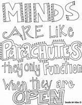 Parachutes Minds Coloring They Open Function Only Pages Parachute Quote sketch template