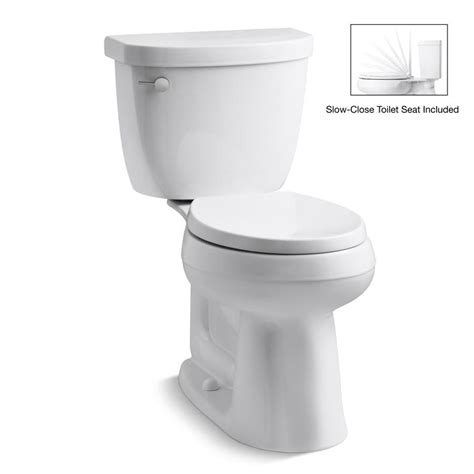 Kohler Bathroom Commodes by Shop Kohler Cimarron White 1 28 Gpf 4 85 Lpf 12 In