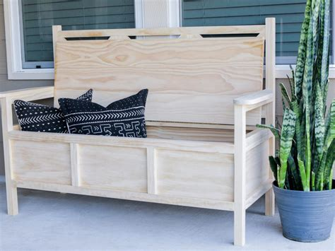 outside bench with storage how to build an outdoor bench with storage hgtv