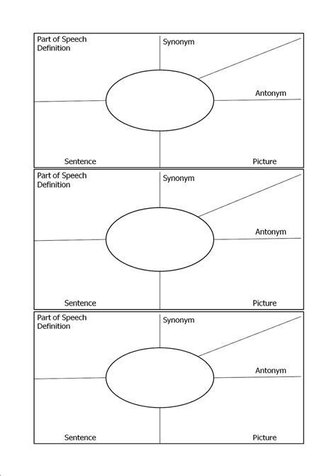 vocabulary template mrs k october 2012