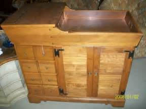 2 piece vintage solid cherry ethan allen dry sink with