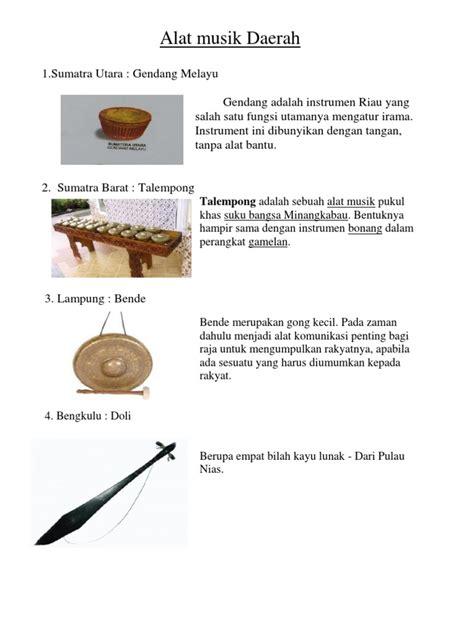 Talempong ini memiliki bentuk yang mirip dengan instrumen bonang dalam gamelan. Alat Musik Gendang Berasal Dari Daerah Mana - Berbagai Alat