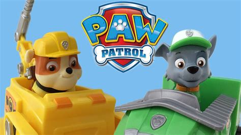 Paw Patrol Vehicles! Rocky And Rubble Paw Patroller And