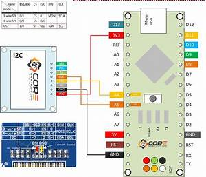 Wiring Oled 128 U00d764 1 3 Inch Display On Spi  I2c