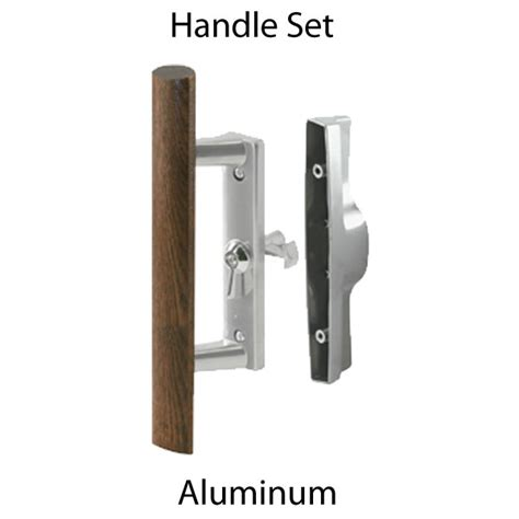 sliding glass patio door handle set aluminum c 1018