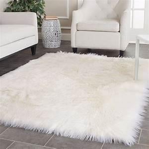 Couverture Fausse Fourrure : blanc faux en peau de mouton tapis longue laine fausse fourrure couverture d coratif couvertures ~ Teatrodelosmanantiales.com Idées de Décoration