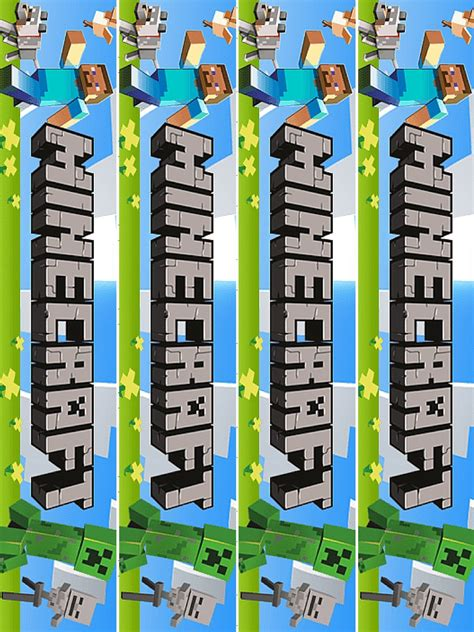 Minecraft Bookmark Template by Printable Minecraft Bookmarks