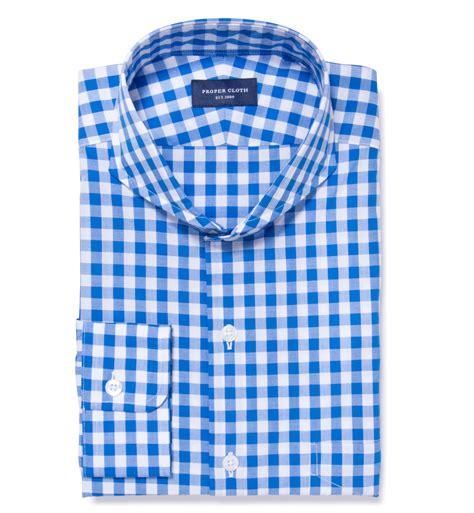 gingham sleeve dress light blue large gingham custom dress shirt by proper cloth