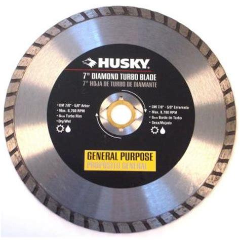 husky 7 in turbo diamond blade t70s8 the home depot