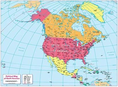 North Map America Political Children Maps Cosmographics