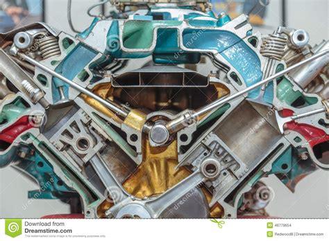 V-8 Engine Cutaway Stock Photo. Image Of Hemi, Cutaway
