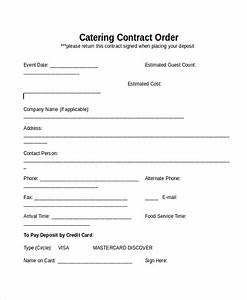 28 contract templates free sample example format With catering contracts templates