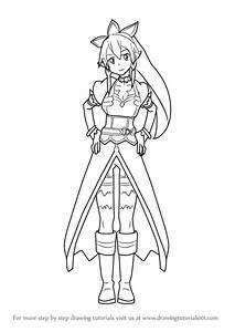 Learn How To Draw Leafa From Sword Art Online  Sword Art