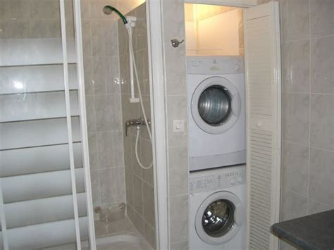 Bathroom Design With Washer And Dryer by Stackable Washer Dryer In Bathroom Design Size