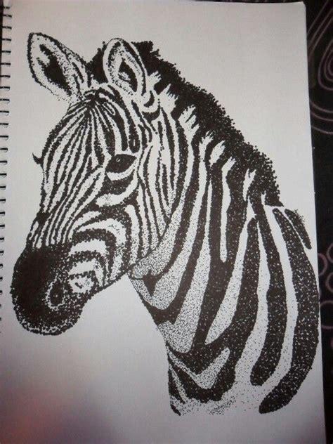 zebra dot drawing black sharpie artist anneka collins