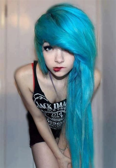17 Best Images About Blue Emo Hair On Pinterest Scene