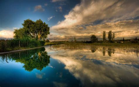 Desktop Backgrounds by Background Lake Sky Reflecting Hd Wallpaper 15903