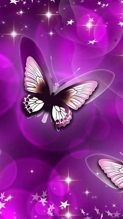 Purple Butterfly Android Lupus Resolution Background Wallpapers