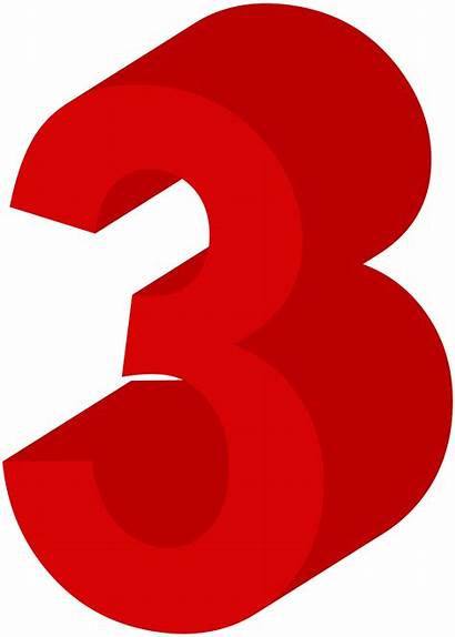 Number Three Clip Clipart Numbers Decorative Transparent