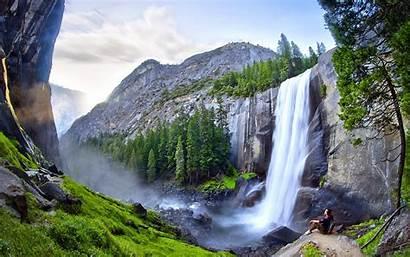 Waterfall Yosemite Waterfalls California Wallpapers Wonderful