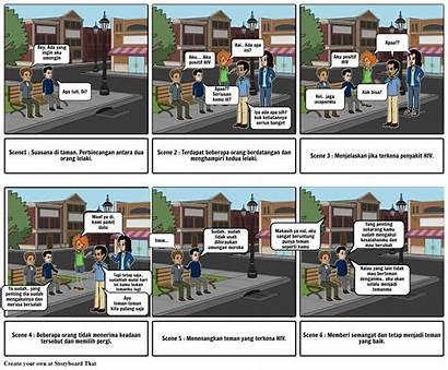 Storyboard Animasi Iklan Bdc Pembelajaran Hiv Interaktif