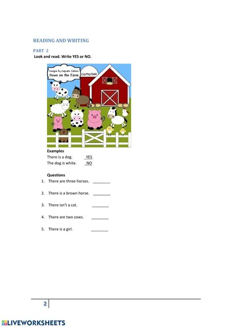 starters test  interactive worksheet