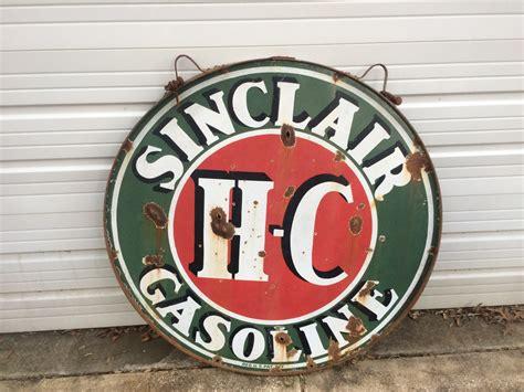 1930's Sinclair Hc Gasoline Sign 48