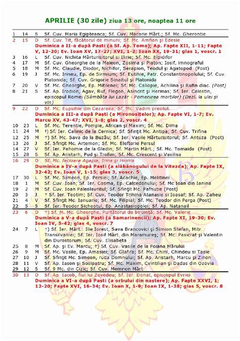 calendar ortodox calendar ianuarie calendarul romanesc