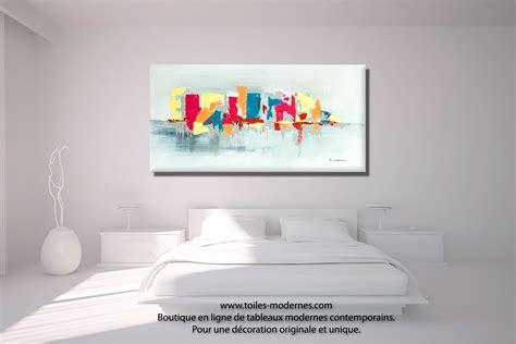 x au bureau tableau fuchsia gris déco design grande toile rectangle