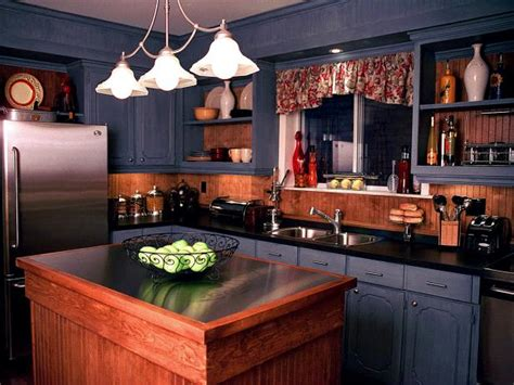 Country Kitchen With Island - painted kitchen cabinet ideas pictures options tips advice hgtv
