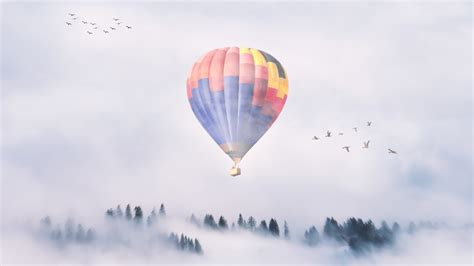 hot air balloon mist  wallpapers hd wallpapers id