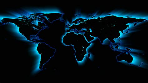 glowing blue map stock footage video  royalty