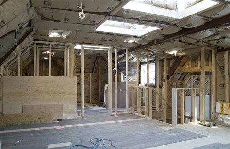 attic jenkintown tudor renovation