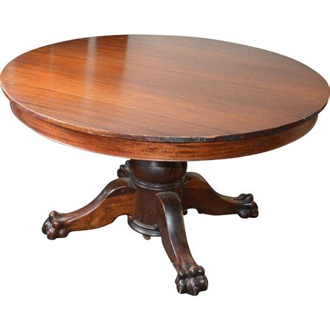 vintage claw foot table victorian claw foot pedestal banquet table w 6