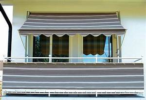 klemm markise mit 2 standrohren 100 polyacryl otto With markise balkon mit ziegel tapete grau