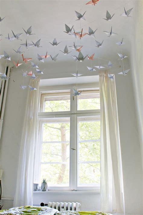 DIY  RentersFriendly Origami Ceiling Decoration