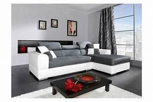 photos canape d39angle gris et blanc With canape gris et blanc angle