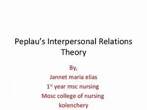 Peplau's interpersonal relations theory