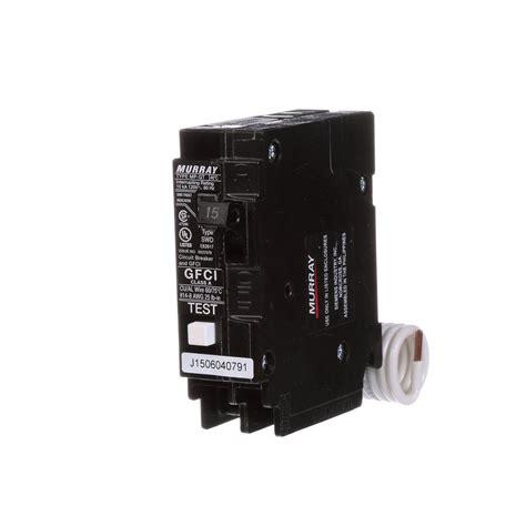 Murray Amp Single Pole Type Gfci Circuit Breaker