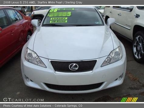 white lexus is 250 2008 starfire white pearl 2008 lexus is 250 awd sterling