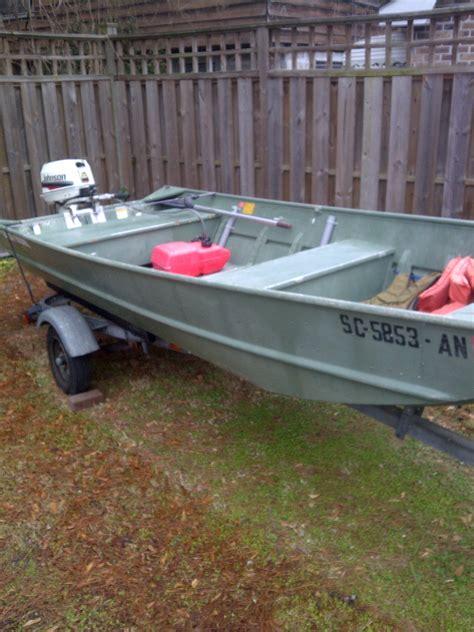 Jon Boats For Sale Charleston Sc by 1995 Grumman Aluminum Jon Boat With 2000 25 Hp Johnson