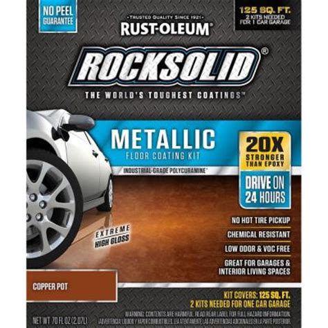 rust oleum rocksolid 70 oz metallic copper pot garage