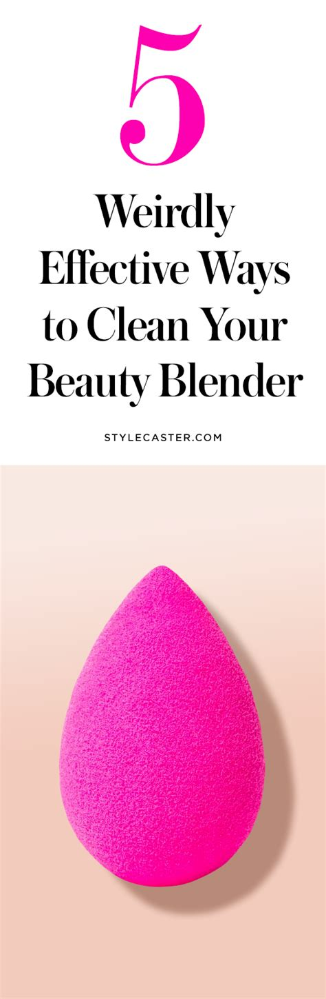weirdly effective ways  clean  beauty blender