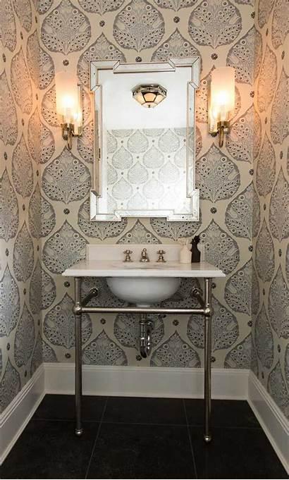 Powder Bathroom Ball Farrow Bath Glamorous Office
