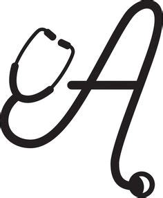 stethoscope font monogram vinyl decal cricut monogram vinyl decals monogram